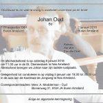 Overleden Johan Oud